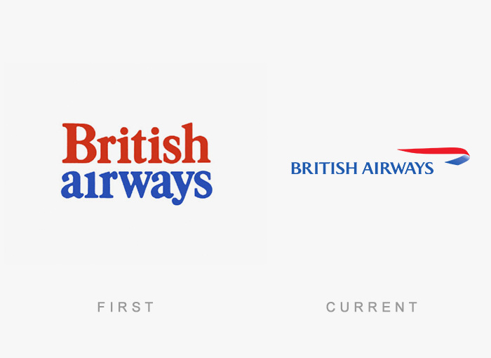 Loghi famosi ieri oggi originali inizi, British Airways