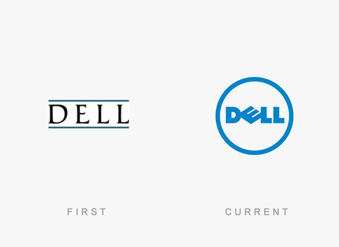 Loghi famosi ieri oggi originali inizi, Dell