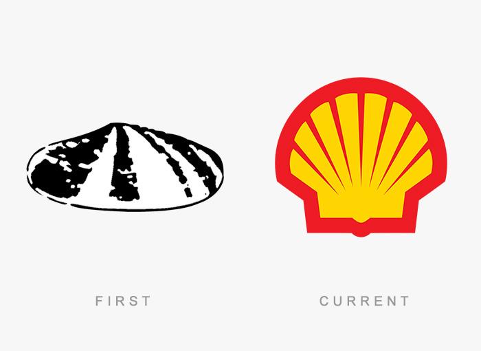 Loghi famosi ieri oggi originali inizi, Shell
