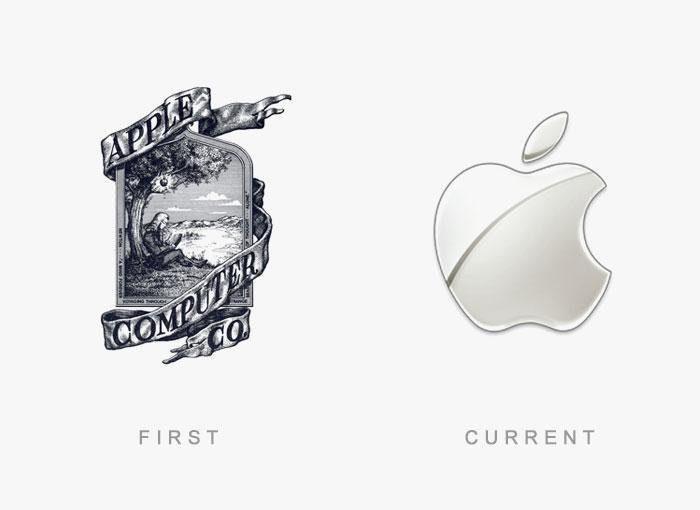 Loghi famosi ieri oggi originali inizi, Apple
