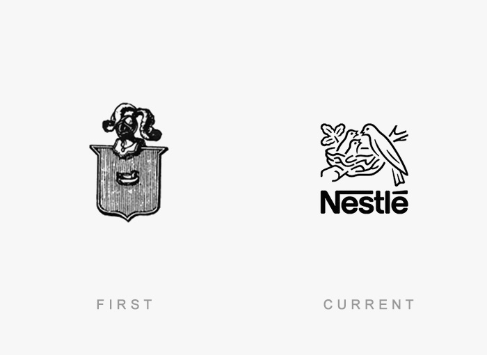 Loghi famosi ieri oggi originali inizi, Nestlè