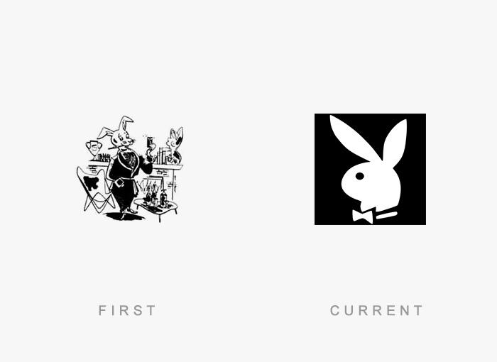 Loghi famosi ieri oggi originali inizi, Playboy