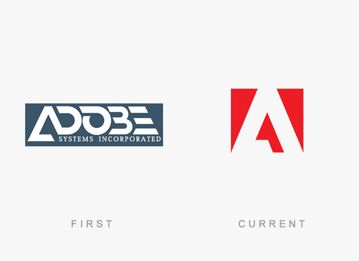 Loghi famosi ieri oggi originali inizi, Adobe Systems