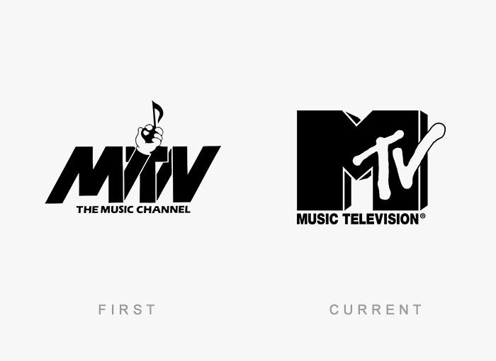 Loghi famosi ieri oggi originali inizi, MTV