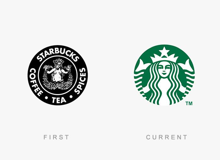 Loghi famosi ieri oggi originali inizi, Starbucks