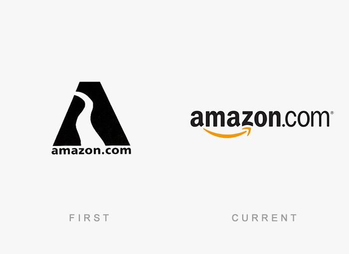 Loghi famosi ieri oggi originali inizi, Amazon