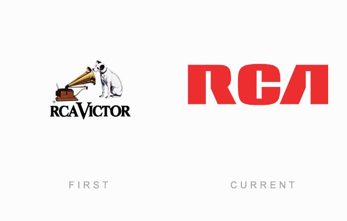 Loghi famosi ieri oggi originali inizi, RCA