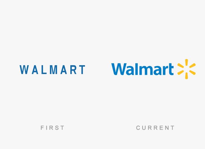 Loghi famosi ieri oggi originali inizi, Walmart