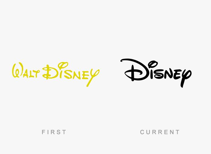 Loghi famosi ieri oggi originali inizi, Disney