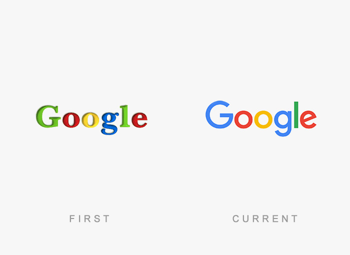 Loghi famosi ieri oggi originali inizi, Google