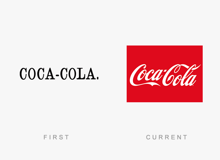Loghi famosi ieri oggi originali inizi, Coca Cola