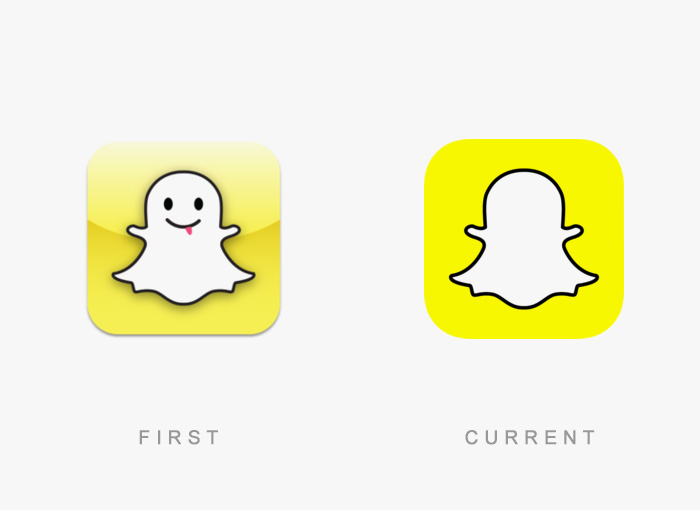 Loghi famosi ieri oggi originali inizi, Snapchat