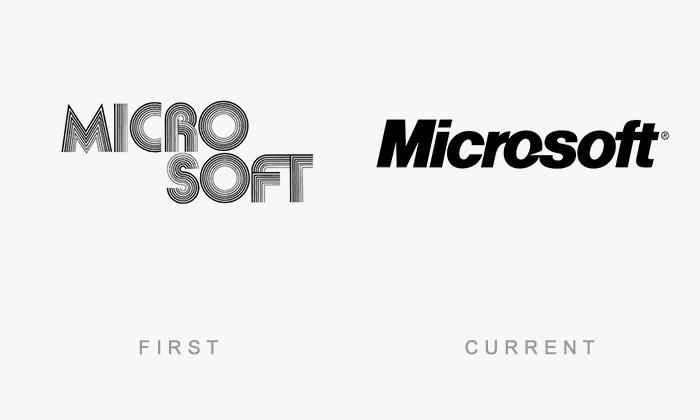 Loghi famosi ieri oggi originali inizi, Microsoft