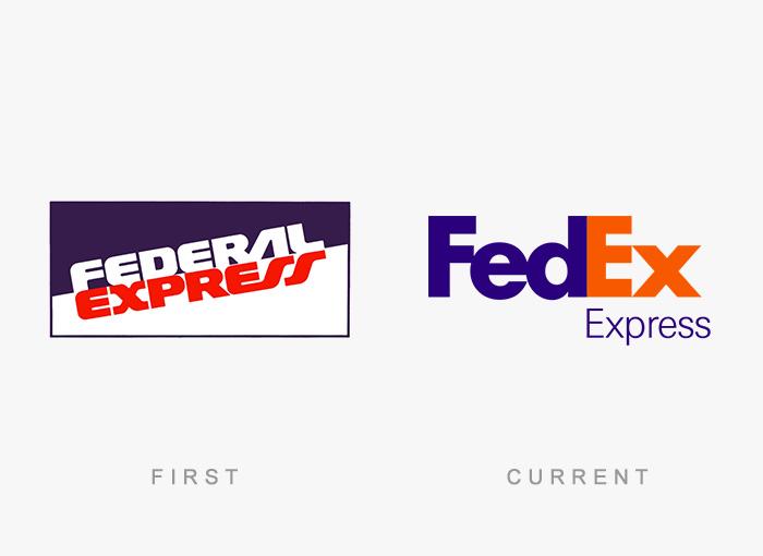 Loghi famosi ieri oggi originali inizi, FedEx