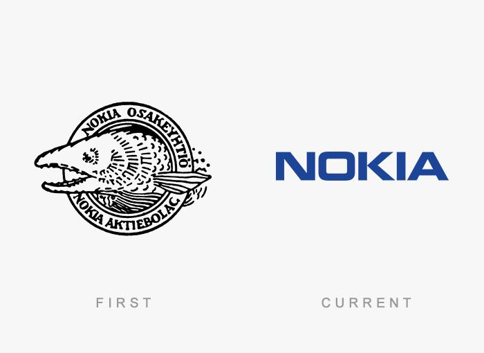 Loghi famosi ieri oggi originali inizi, Nokia