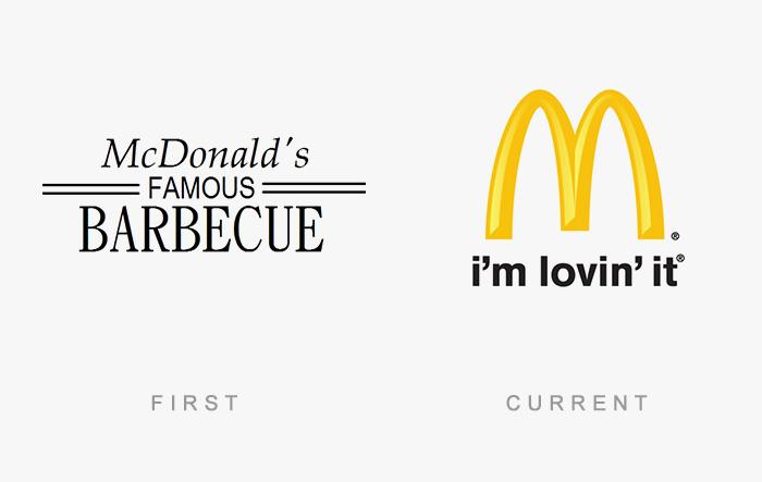 Loghi famosi ieri oggi originali inizi, McDonald