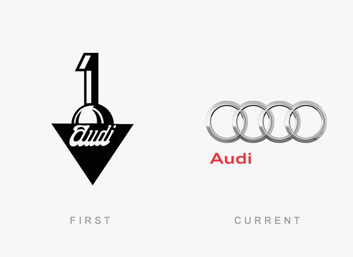 Loghi famosi ieri oggi originali inizi, Audi