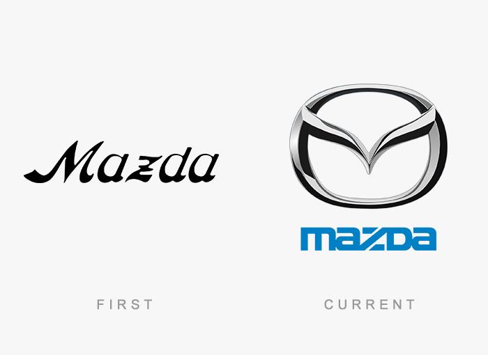 Loghi famosi ieri oggi originali inizi, Mazda