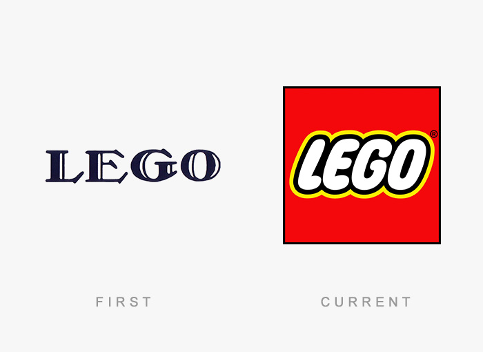 Loghi famosi ieri oggi originali inizi, LEGO