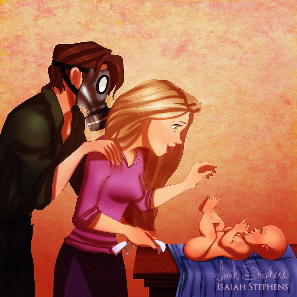 principesse-disney-diventano-mamme-illustrazioni-isaiah-stephens-2