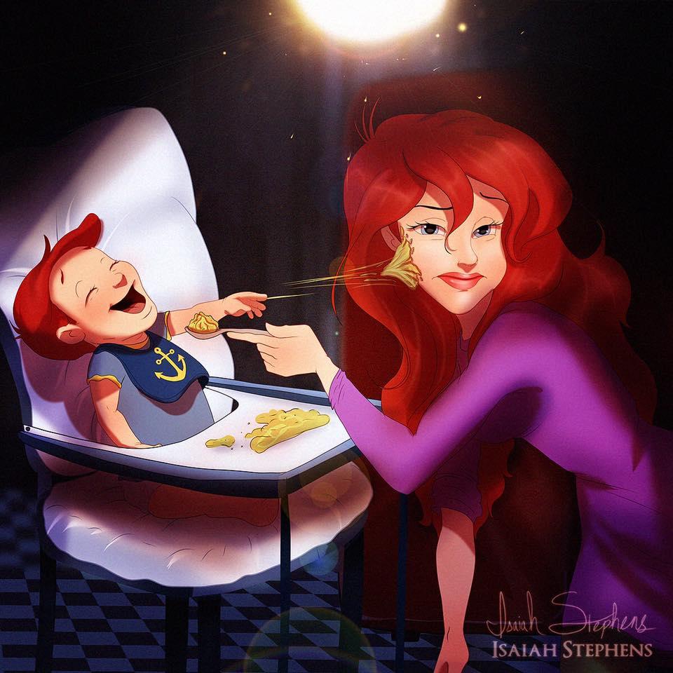 principesse-disney-diventano-mamme-illustrazioni-isaiah-stephens-3