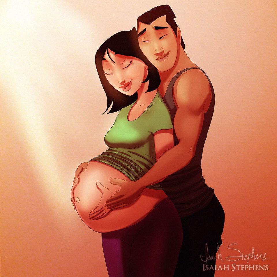 principesse-disney-diventano-mamme-illustrazioni-isaiah-stephens-6