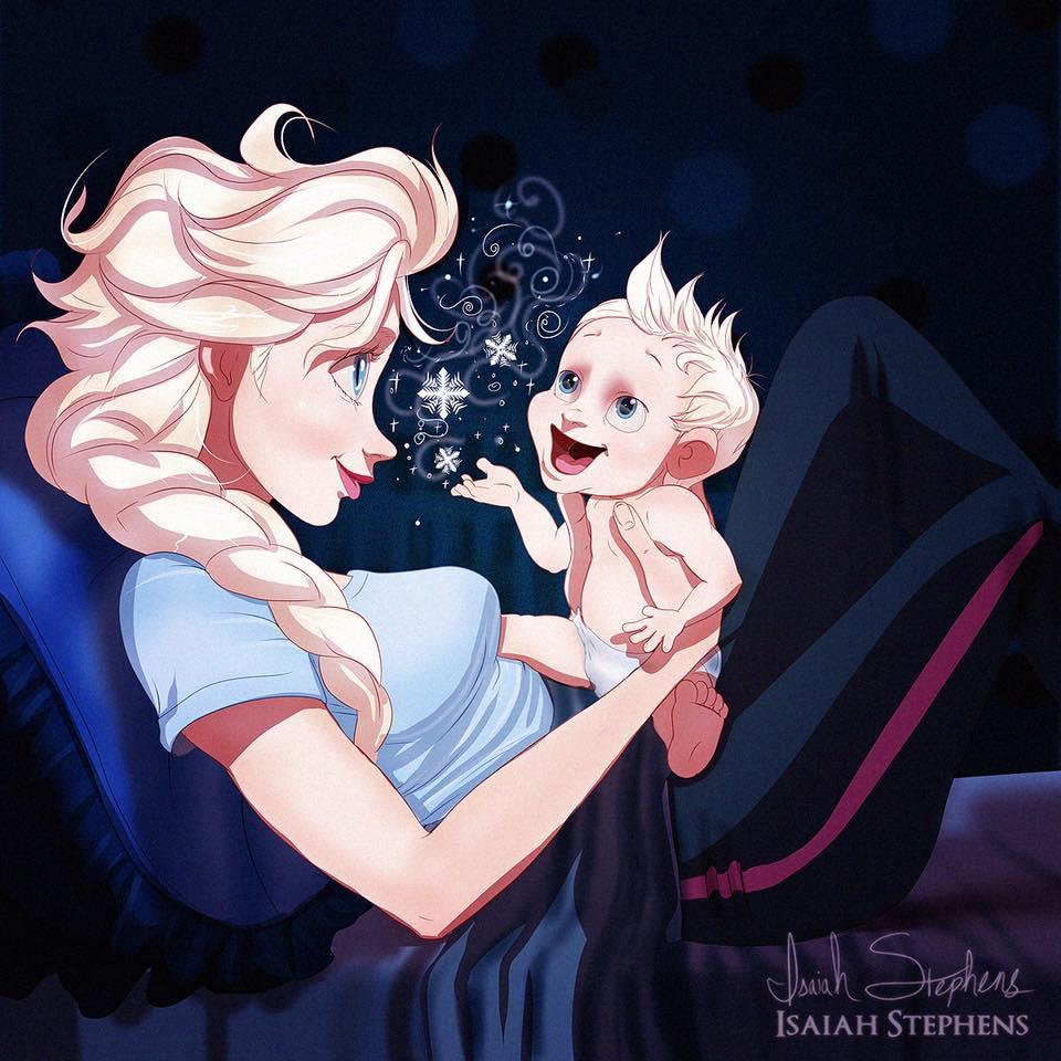 principesse-disney-diventano-mamme-illustrazioni-isaiah-stephens-7