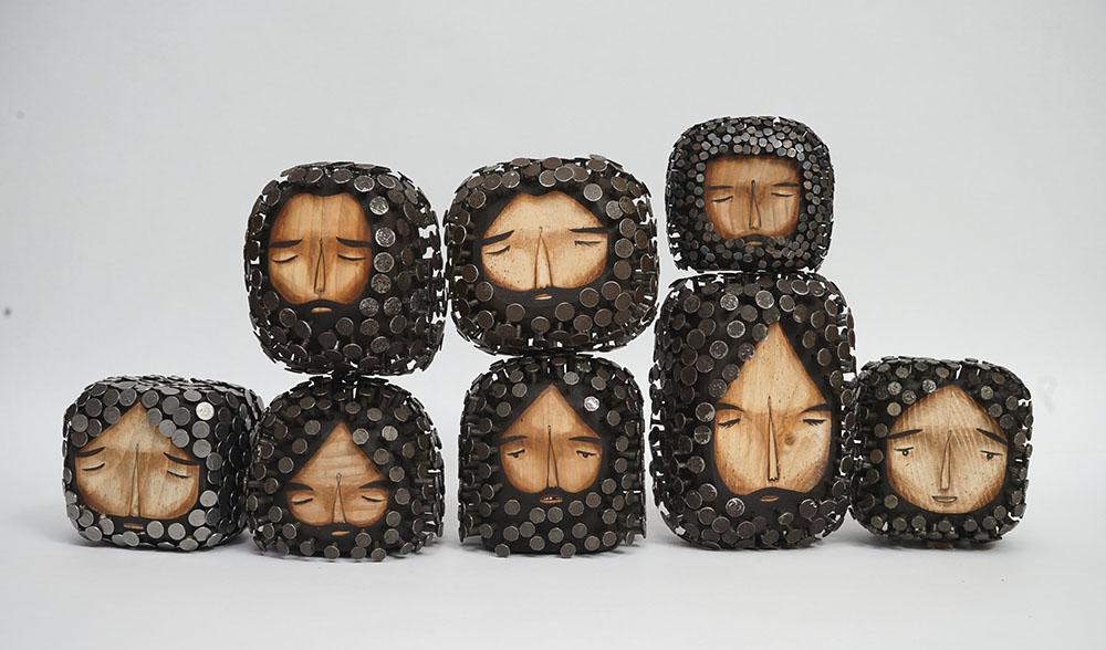 sculture-legno-riciclato-chiodi-capelli-barba-jaime-molina-7