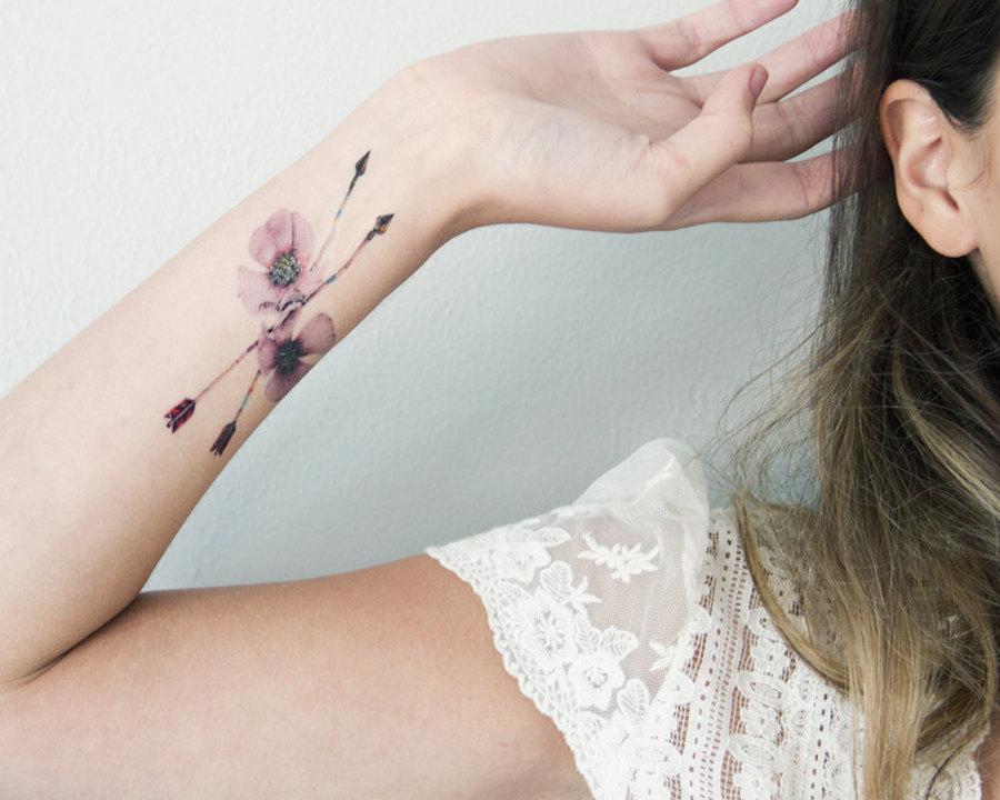 tatuaggi-temporanei-eleganti-natura-volpi-fiori-conigli-kelly-mitchell-12