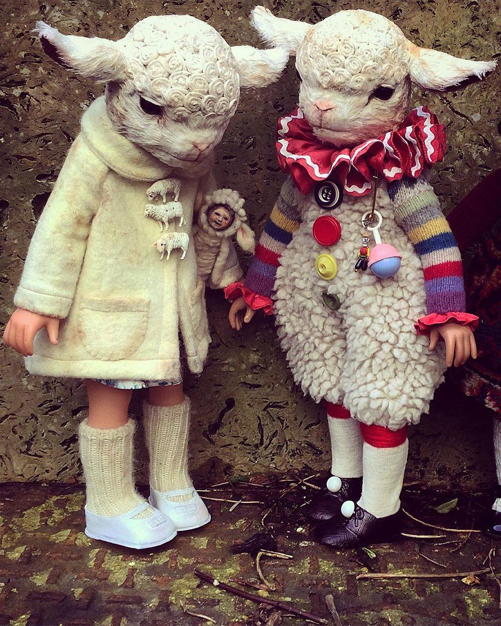 bambole-cucite-mano-teste-animali-annie-montgomery-14