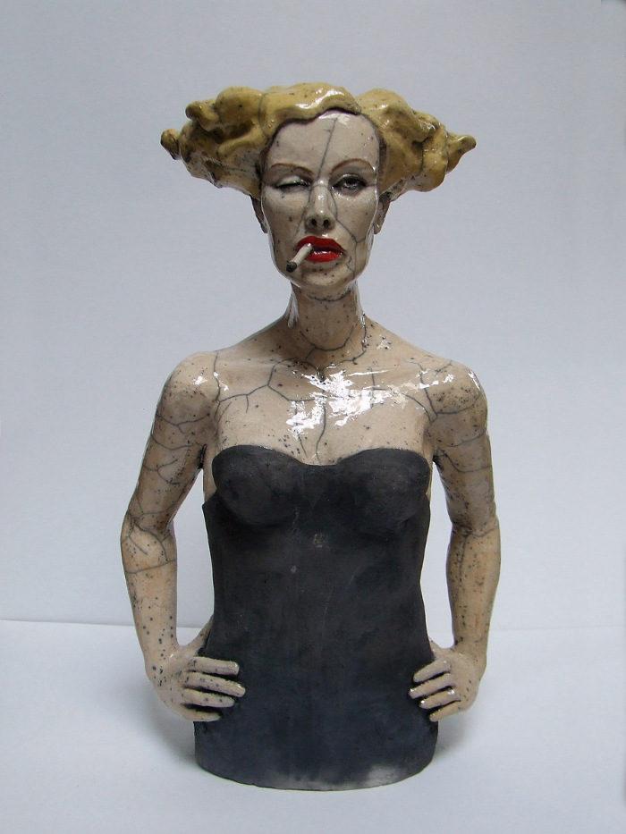 Spettacolari busti in ceramica di Melanie Bourget