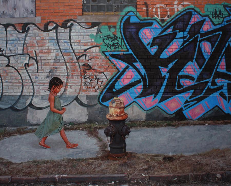 dipinti-iperrealisti-bambini-animali-citta-fatiscenti-kevin-peterson-03