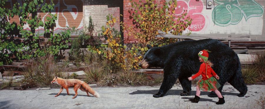 dipinti-iperrealisti-bambini-animali-citta-fatiscenti-kevin-peterson-08
