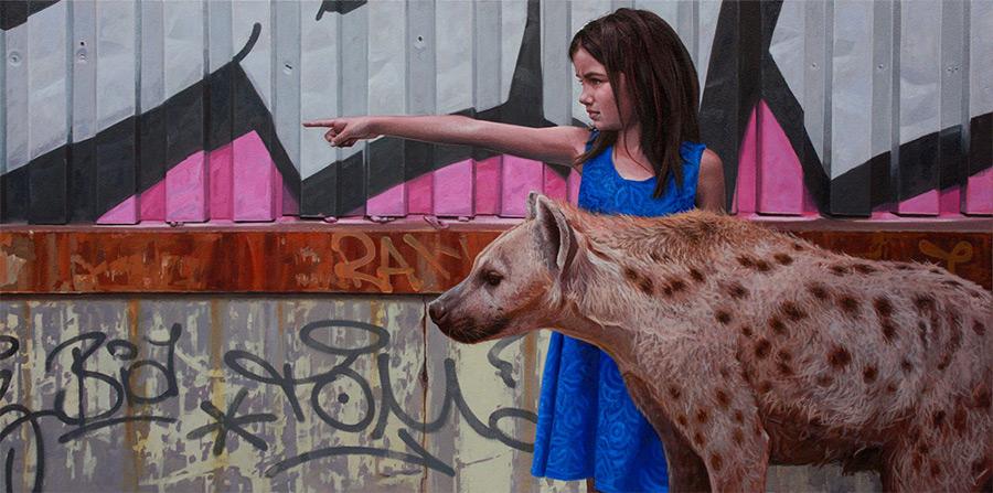 dipinti-iperrealisti-bambini-animali-citta-fatiscenti-kevin-peterson-09