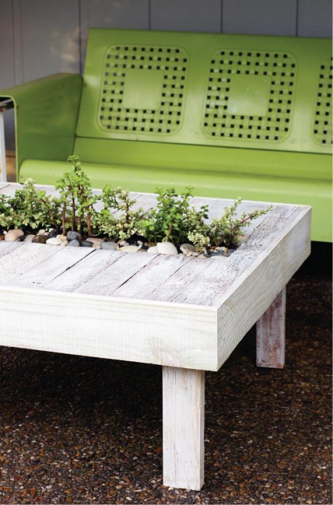 ... realizzare uno splendido tavolo da giardino utilizzando i pallet