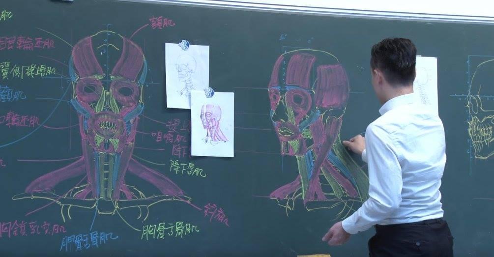 insegnante-disegni-anatomici-mano-libera-lavagna-chuan-bin-chung-3
