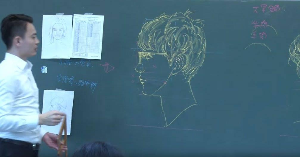 insegnante-disegni-anatomici-mano-libera-lavagna-chuan-bin-chung-4