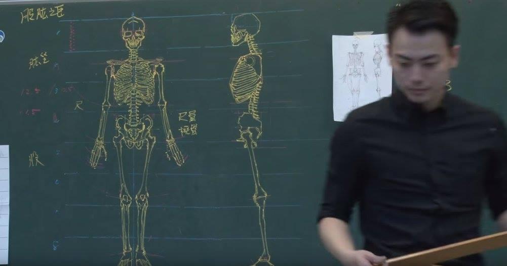 insegnante-disegni-anatomici-mano-libera-lavagna-chuan-bin-chung-6