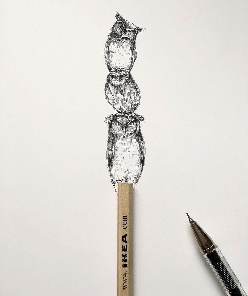 disegni-inchiostro-animali-alberi-alfred-basha-06