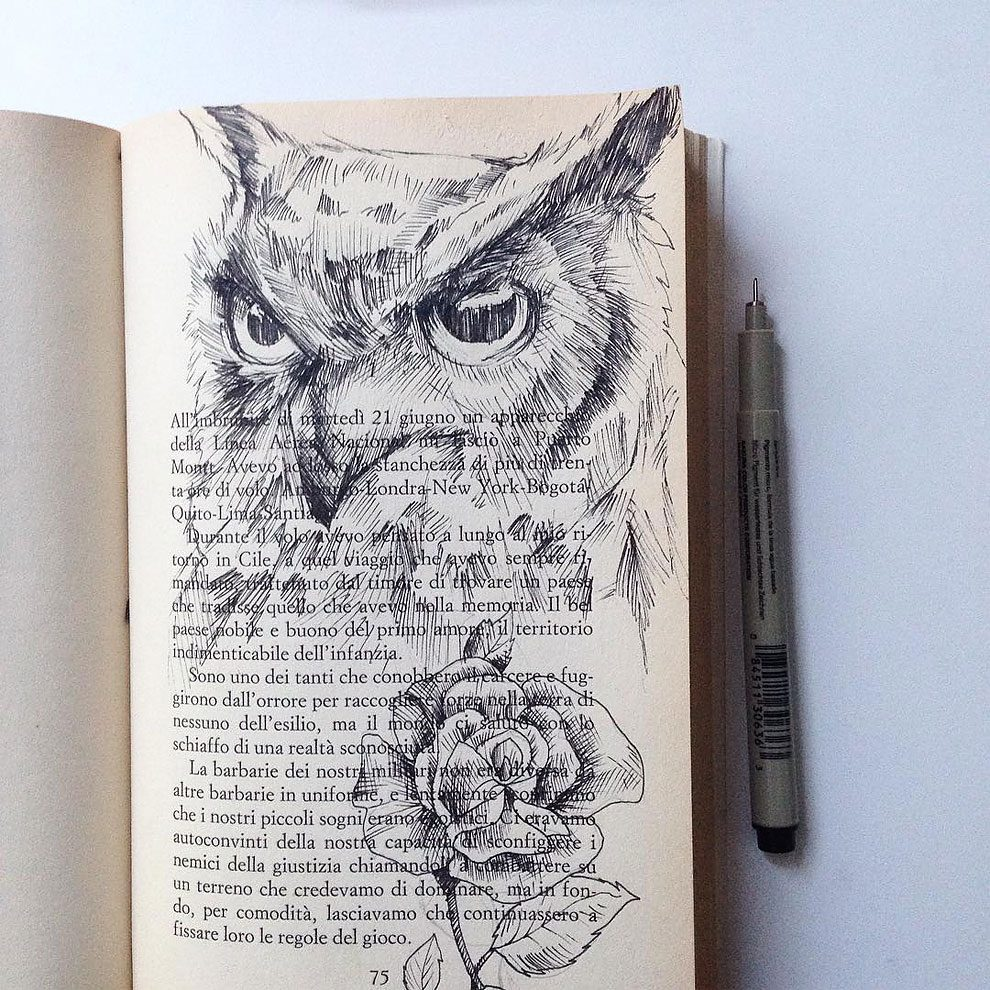 disegni-inchiostro-animali-alberi-alfred-basha-10
