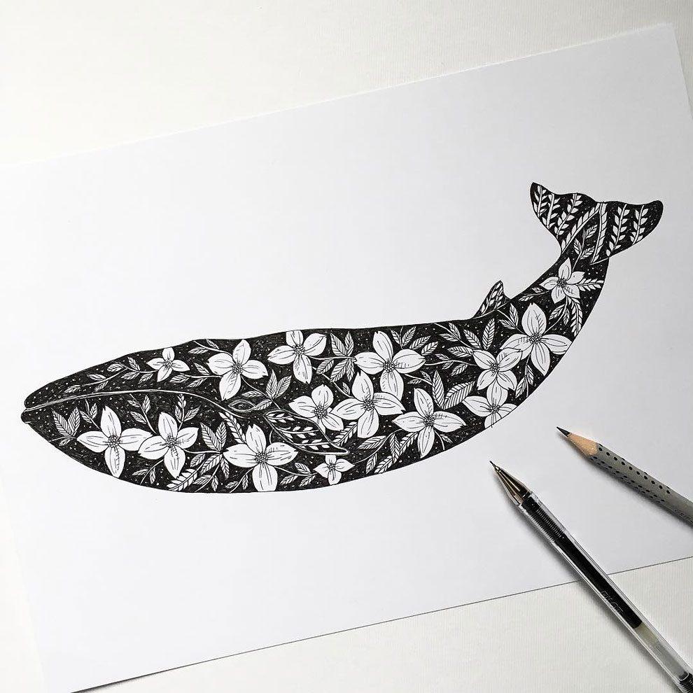 disegni-inchiostro-animali-alberi-alfred-basha-11