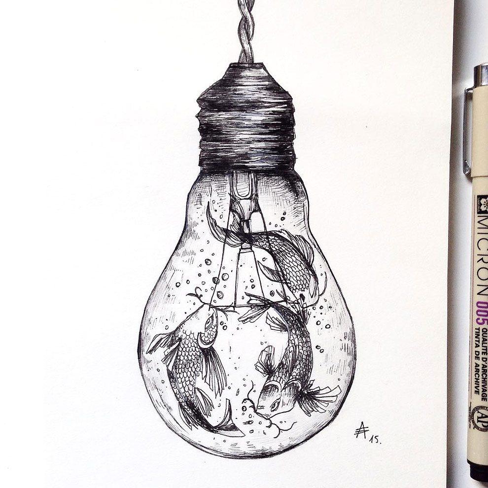 disegni-inchiostro-animali-alberi-alfred-basha-18