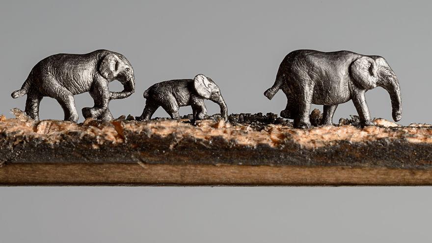 sculture-matite-incise-grafite-elefanti-cindy-chinn-07