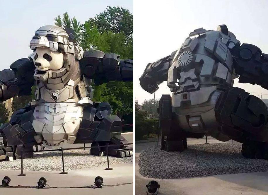 statua-panda-imponente-vestito-iron-man-bi-heng-cina-2