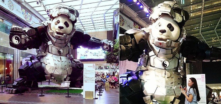 statua-panda-imponente-vestito-iron-man-bi-heng-cina-9