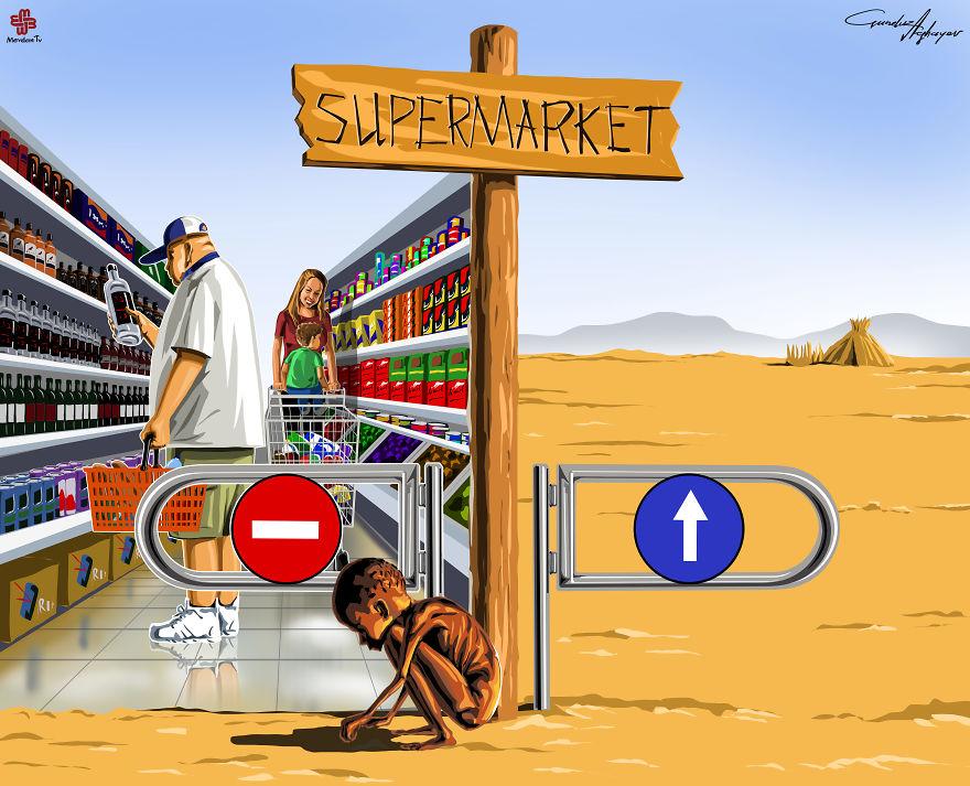 supermaket-illustrazioni-satiriche-critica-societa-gunduz-agayev-02