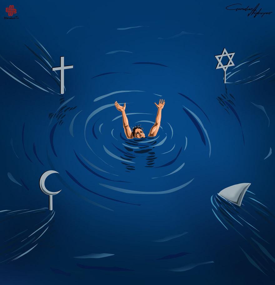 supermaket-illustrazioni-satiriche-critica-societa-gunduz-agayev-05