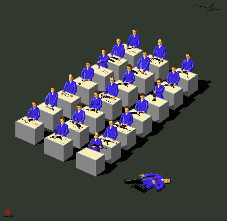supermaket-illustrazioni-satiriche-critica-societa-gunduz-agayev-10