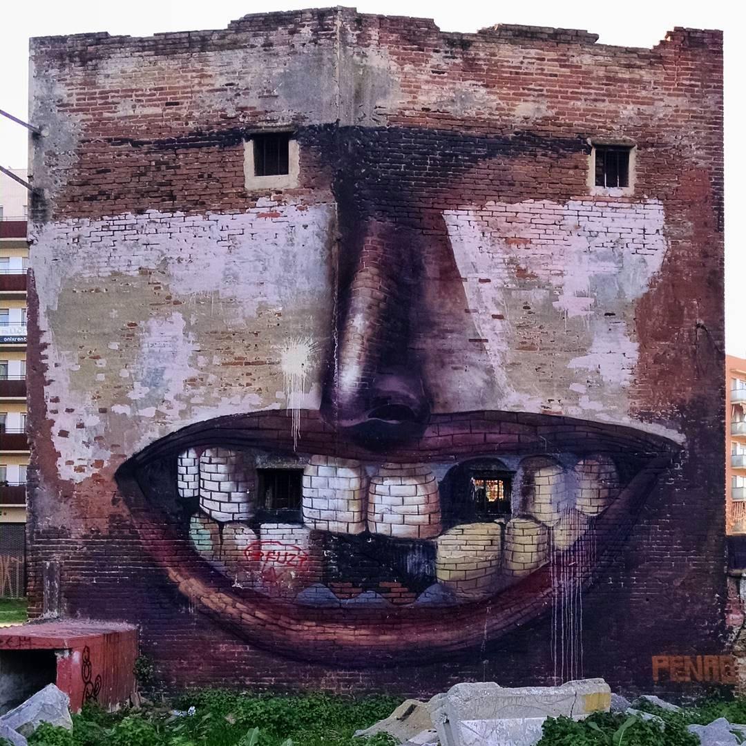casa-sorridente-street-art-street-artist-penao-murs-lliures-barcellona-2