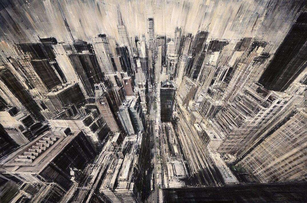 dipinti-citta-new-york-milano-parigi-movimento-valerio-dospina-06
